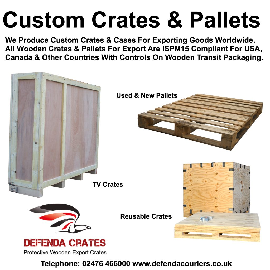 Custom made ISPM 15 certified wooden crates, cases for storage & protection of goods being transported around the U.K. or exported